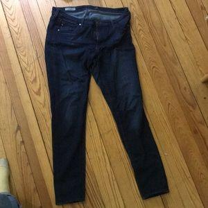 AG super skinny dark wash jeans